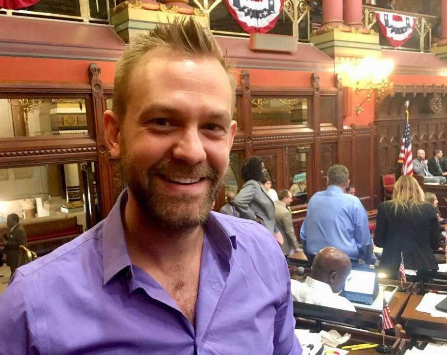 Josh Elliott, D-Hamden, arguably the General Assembly's leading advocate for legalized marijuana sales. Photo: Dan Haar /Hearst Connecticut Media