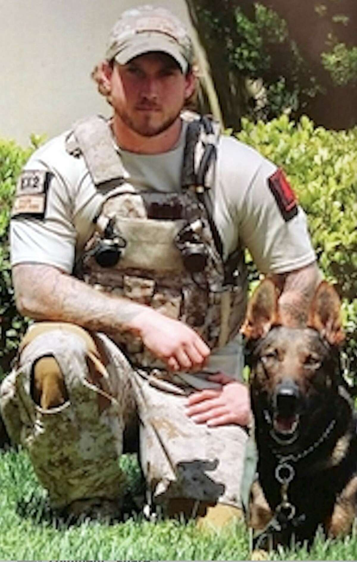 """Will Chesney, the K9 handler for the special task force that killed Osama bin Laden, is in the area promoting his new book, """"No Ordinary Dog: My Partner from the SEAL Teams to the Bin Laden Raid"""", which comes out April 21. The story is about Cairo, who served with Chesney through his military career."""