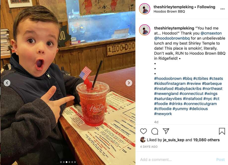 """Leo Kelly from Fairfield, Conn., a.k.a """"The Shirley Temple King"""" has garnered Internet fame thanks to his honest reviews of Shirley Temples. Photo: Instagram @theshirleytempleking"""