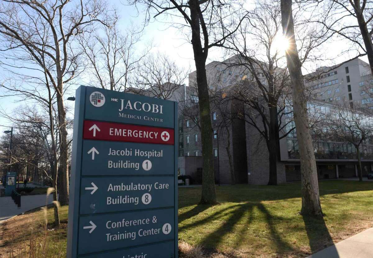 File photo of Jacobi Medical Center in the Bronx, N.Y., taken on Thursday, Jan. 30, 2020, when Fotis Dulos was being treated there.