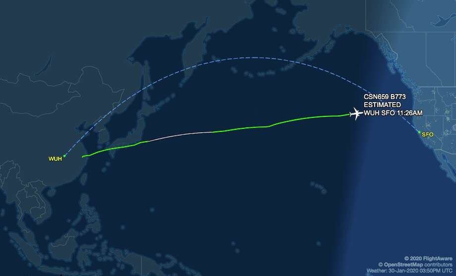 Note that China Southern flight CZ659 does not stop in Wuhan, the epicenter of the coronavirus outbreak. Photo: FlightAware