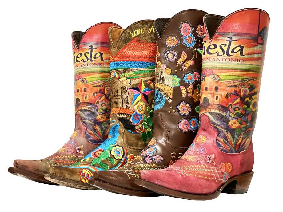 For Fiesta this year, Texas Western Warehouse is selling special Fiesta cowboy boots for $199. Photo: Fiesta San Antonio Commission