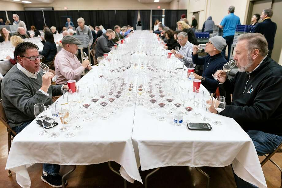 Sixty-six wine professionals judged 6,700 wines vying for Bronze, Silver, Gold or Double Gold metals and the prestigious Sweepstake award at the four-day judging at the Cloverdale Citrus Fairgrounds. Photo: Michael Short