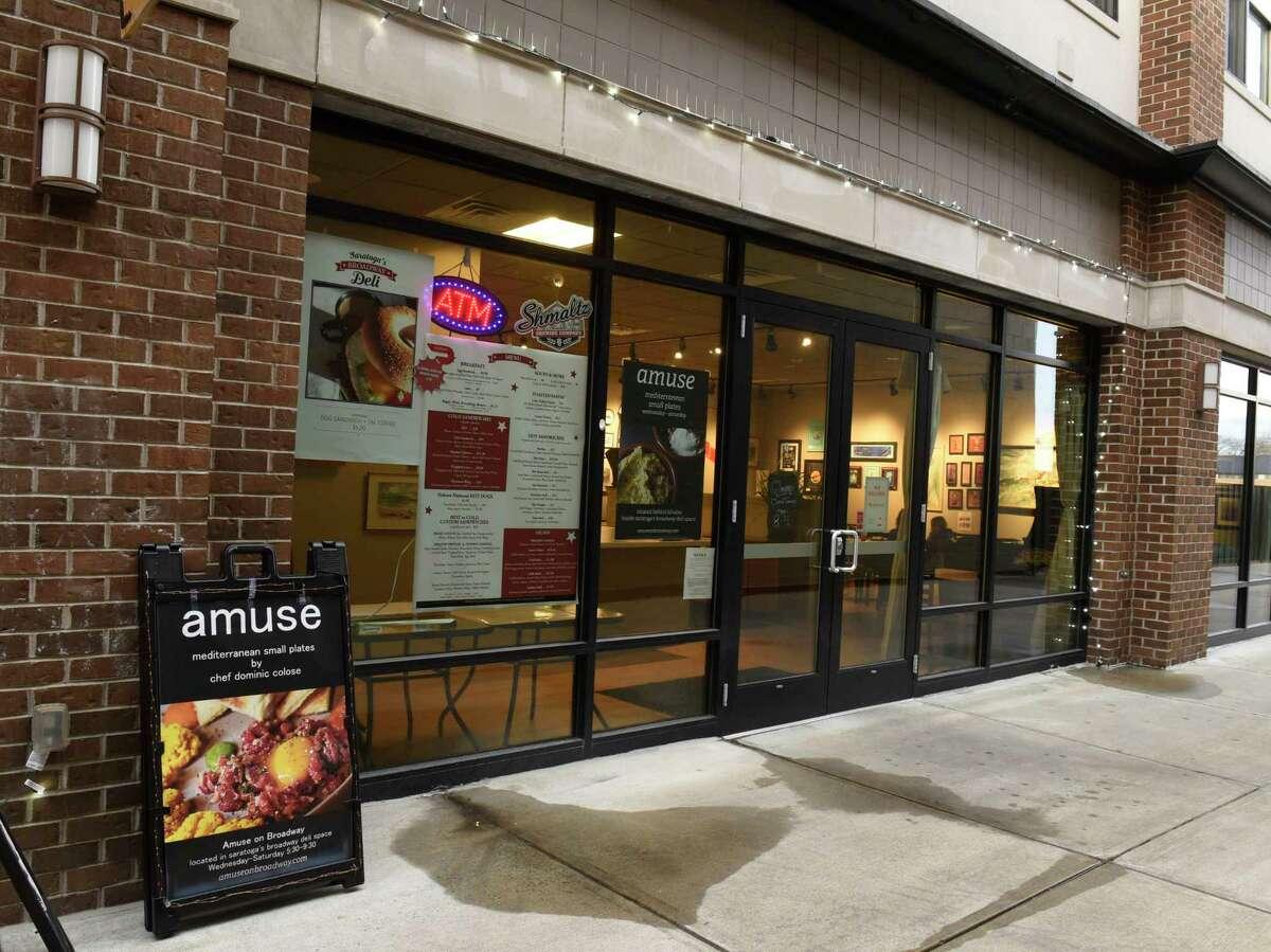 Exterior of Amuse on Broadway on Thursday, Jan. 16, 2020 in Saratoga Springs, N.Y. (Lori Van Buren/Times Union)