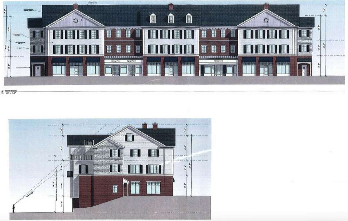 The larger of three building planned for 200 Danbury Road (Route 7) includes three retail spaces and 12 apartments. A public hearing is expected to open Feb. 24.
