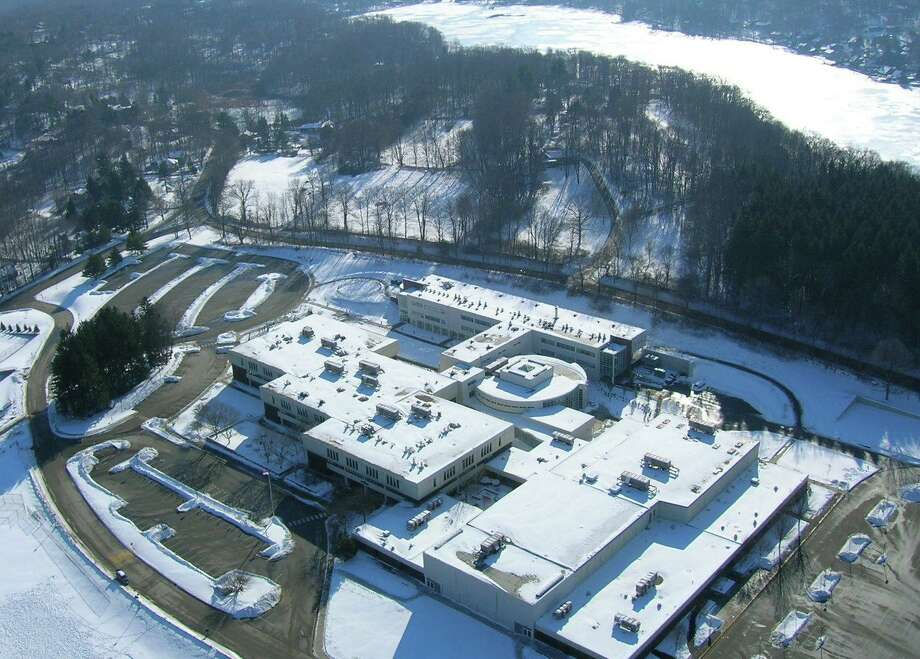 Ridgefield High School is a sizable building, with a $14 million budget. Photo: Tony Loomis /