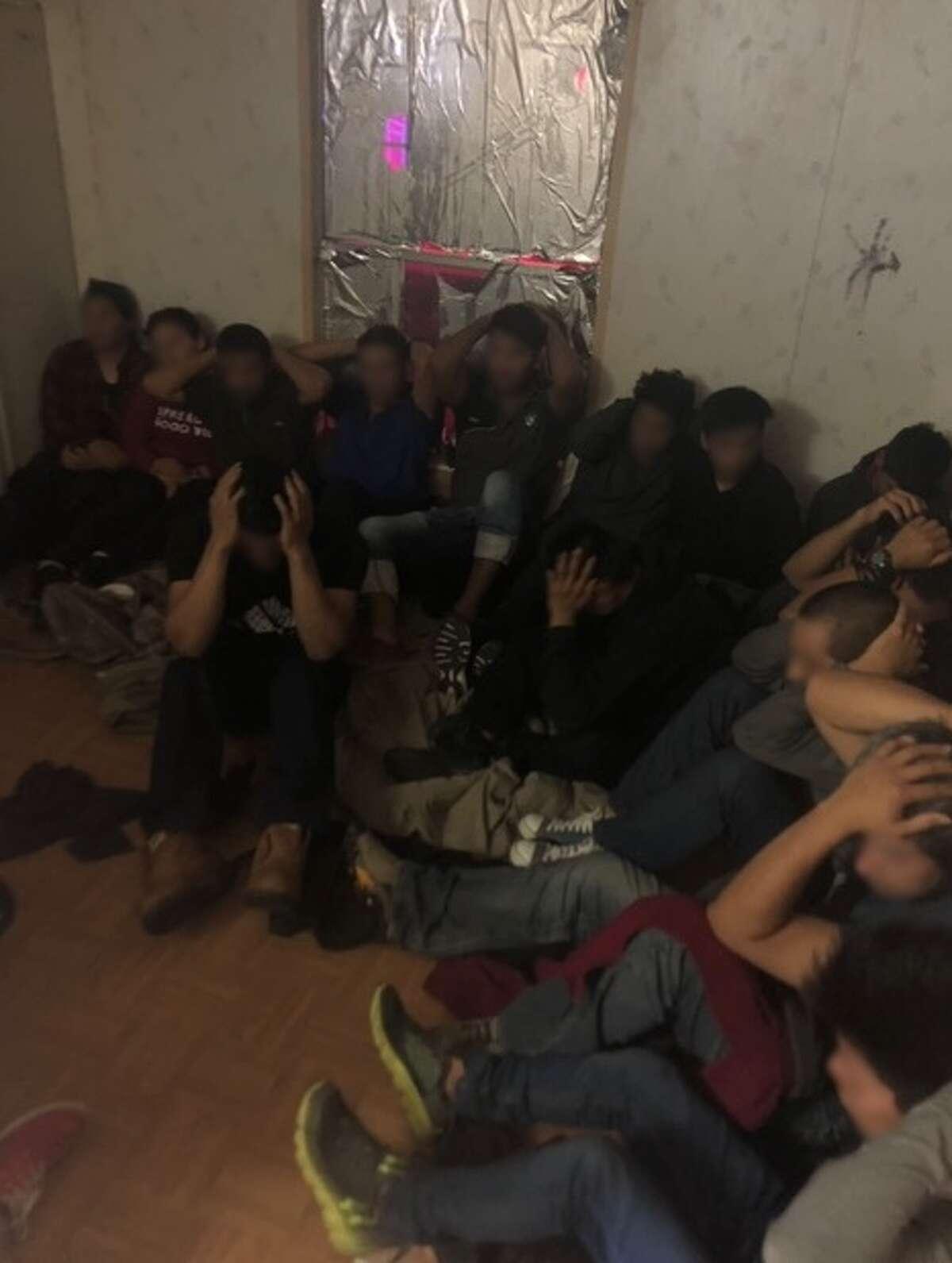 USBP arrested 31 in a Laredo stash house.