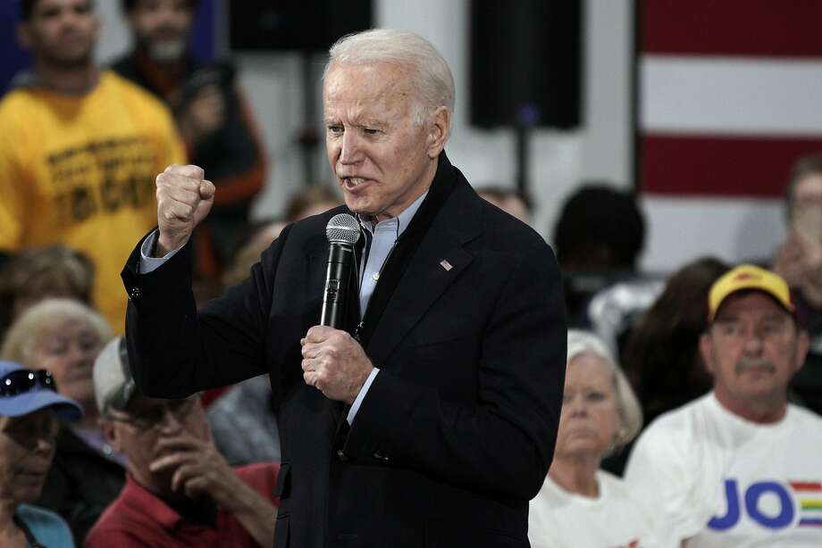 While campaigning in Council Bluffs, Iowan, Joe Biden fended off an onslaught of GOP attacks over his son's business overseas. Photo: Nati Harnik / Associated Press