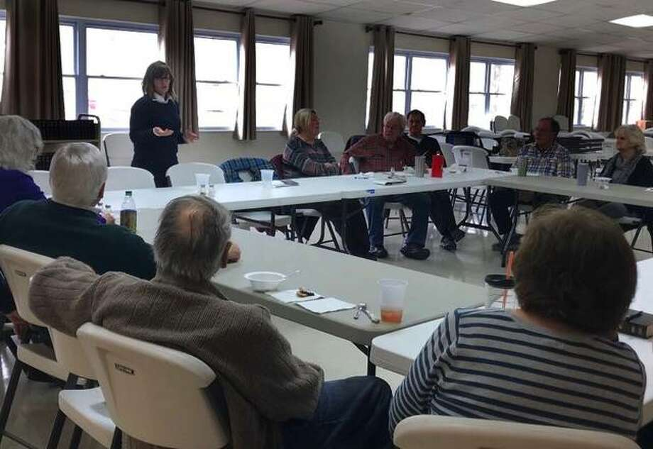 State Rep. Katie Stuart, D-Edwardsville, recently met with members of We've Been There, a Granite City group that works on senior issues, to share an update from the Elder Abuse Task Force, to which she was appointed last year.