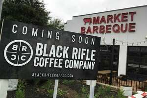 Coming soon signage for a Black Rifle Coffee Co. has been put up at 180 W. Bitters Road, near the intersection of U.S. 281.