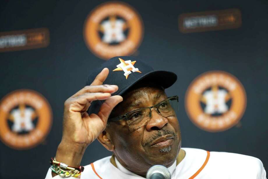 PHOTOS: More from Dusty Baker's introductory press conference with the Astros Dusty Baker speaks to the media, after being introduced by owner Jim Crane, as the Houston Astros new manager at Minute Maid Park, in Houston, Thursday, Jan. 30, 2020. Photo: Karen Warren, Staff Photographer / © 2020 Houston Chronicle