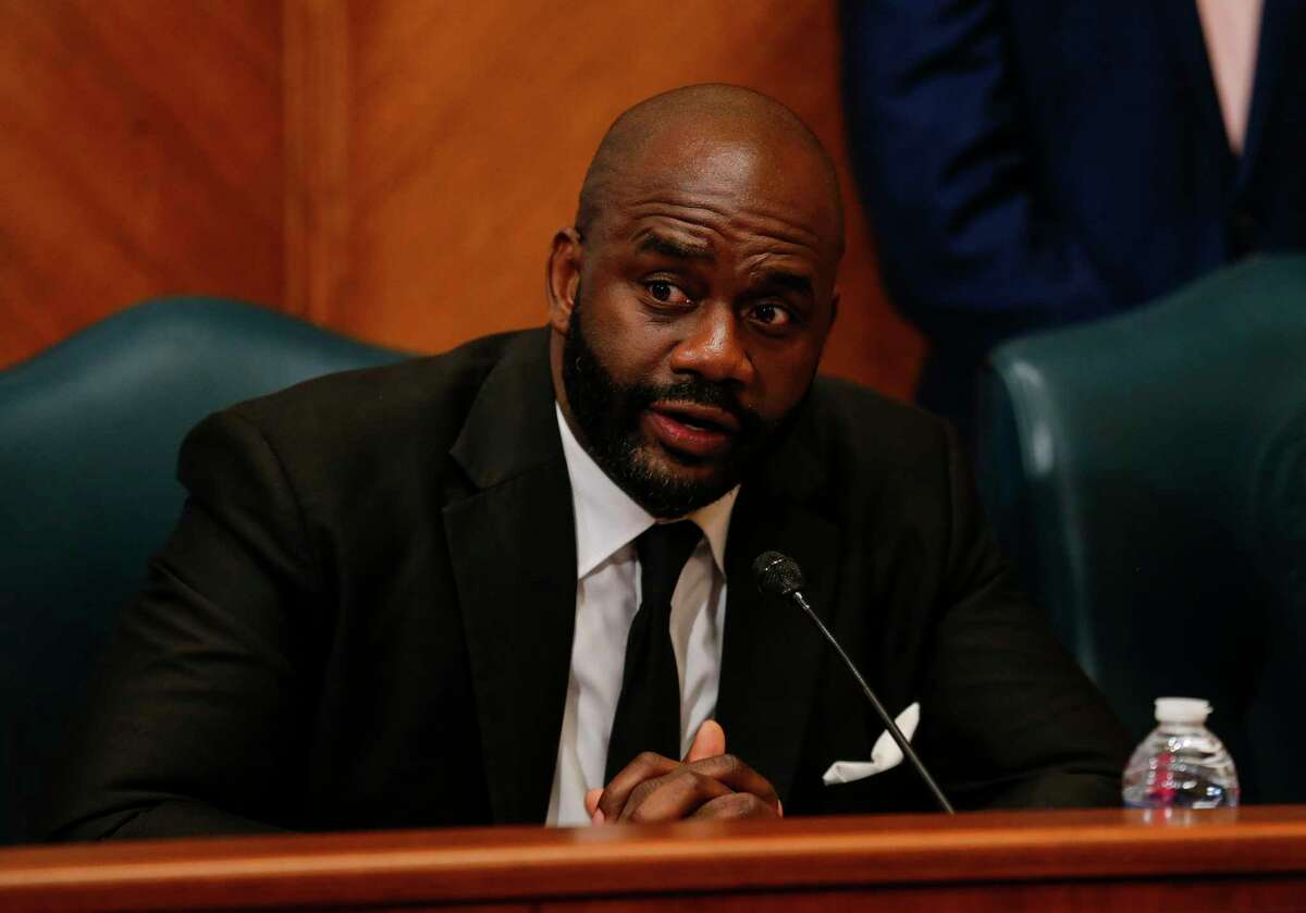 Jerry Davis, Council Member District B, during the council meeting at City Hall Thursday, Jan. 2, 2020, in Houston.