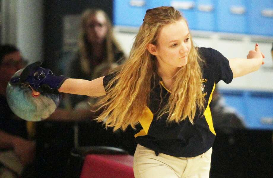 Taking the lanes at Green Meadow bowling alley in Sebewaing, the Bad Axe girls squad recorded a 29-1 victory against USA on Tuesday, Jan. 28. Photo: Tribune File Photo