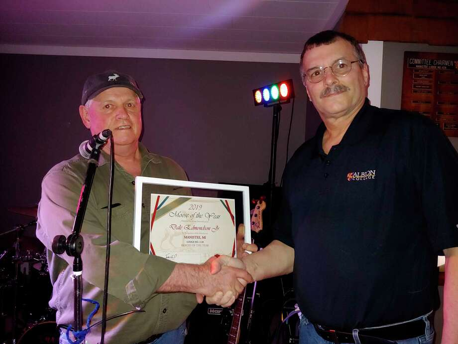 Dale Edmondson Jr.was selectedtheMoose of the Year for the 2018-2019 yearfor Manistee Moose Lodge No. 1128. (Photo provided by Manistee Moose)