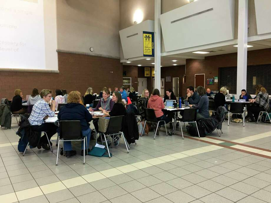 Manistee Area Public Schools teachers and administrators have been taking part in a professional development exercise on Monday mornings prior to the start of school to work on things that will help student achievement. (Courtesy photo)