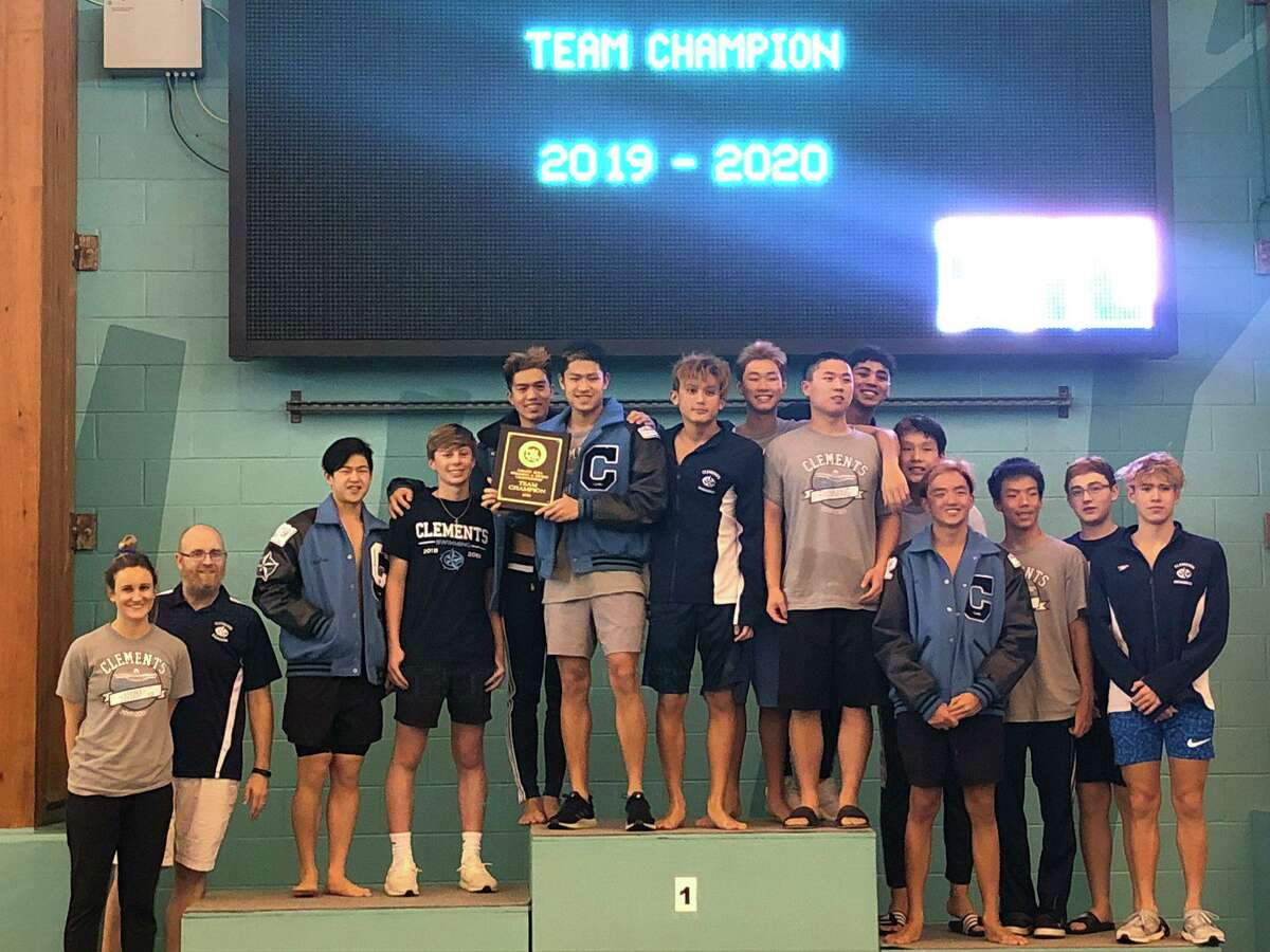 The Clements boys swimming and diving team won the District 20-6A championship, finishing first in all three relays and winning six individual gold medals.