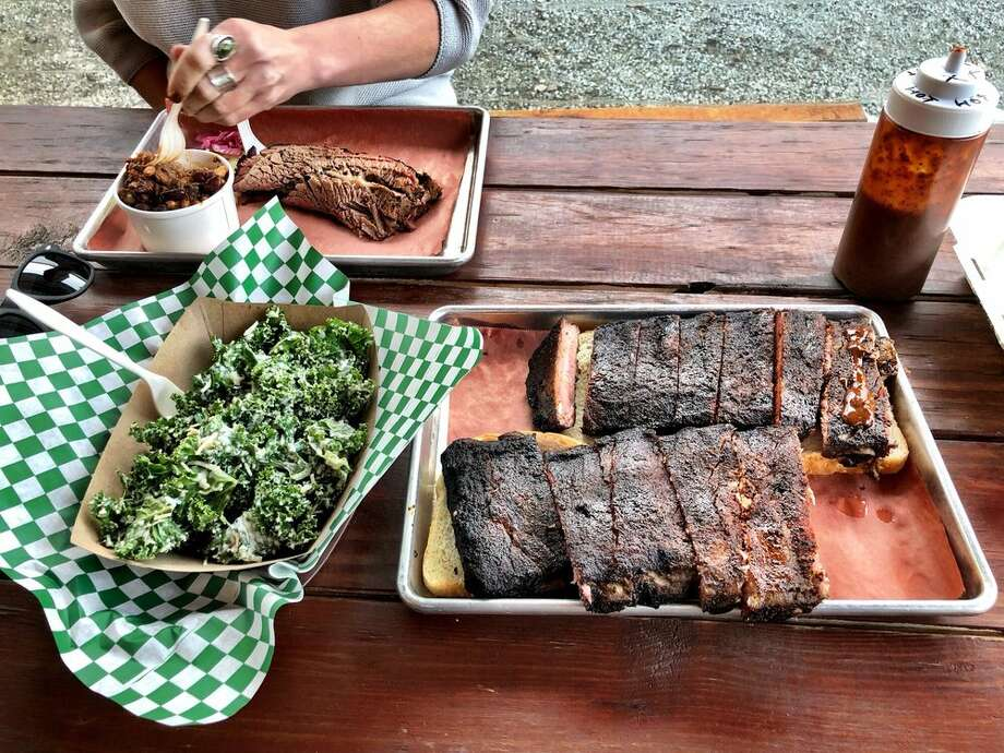 For your bounty of barbecue, head to Wood Shop BBQ or Lil Red'sThe Atlantic neighborhood of Seattle hosts a smoky hidden gem: Wood Shop BBQ. In typical backyard, home-style cooking, this barbecue joint doles out five different smokes to complete Texas-style smoked hickory brisket by the pound, spicy pork and polish kielbasa by the link, and smoked jalapeno mac and cheese, to name just a few. Columbia City's Lil Red's is also up for the Super Bowl-sized servings, boasting plates of barbecued and jerk chicken smothered in sticky sauce and a tangy pulled pork. Photo: Jay B/Yelp