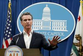 California Gov. Gavin Newsom announced that California will spend $20 million on a public awareness campaign about the dangers of vaping nicotine and cannabis products amid a rise in vaping-related illnesses, during a news conference in Sacramento, Calif., Monday, Sept. 16, 2019. (AP Photo/Rich Pedroncelli)