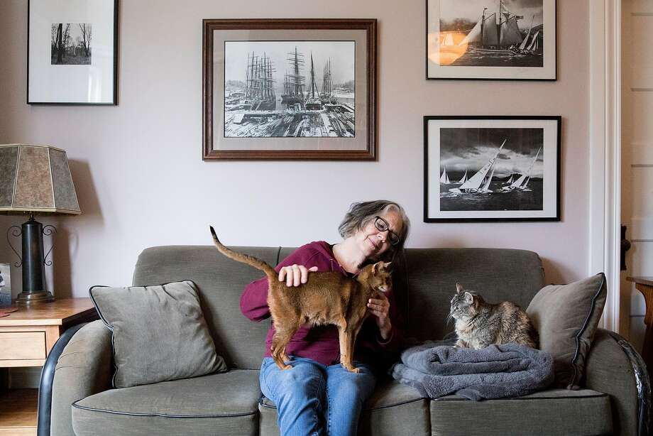 Shelley Simon is a full-time house and pet sitter, which is one way to beat the high cost of living in the Bay Area. Photo: Jessica Christian / The Chronicle
