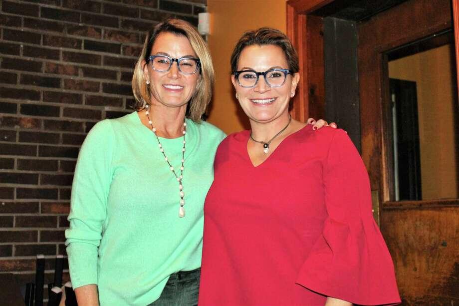 Themis Klarides and her sister Nicole Klarides-Ditria at Thursday's event. Photo: Jean Falbo-Sosnovich / Hearst Connecticut Media