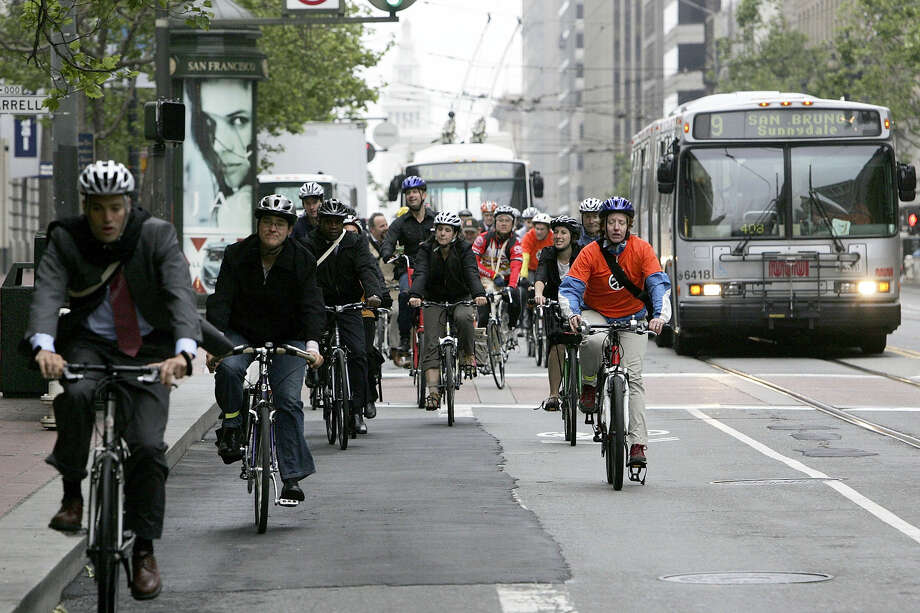 On Jan. 29, Market Street became car-free in its downtown section. There are so many possibilities of car-free streets here in San Francisco.  These are just a few suggestions. Photo: Getty Images / 2006 Getty Images