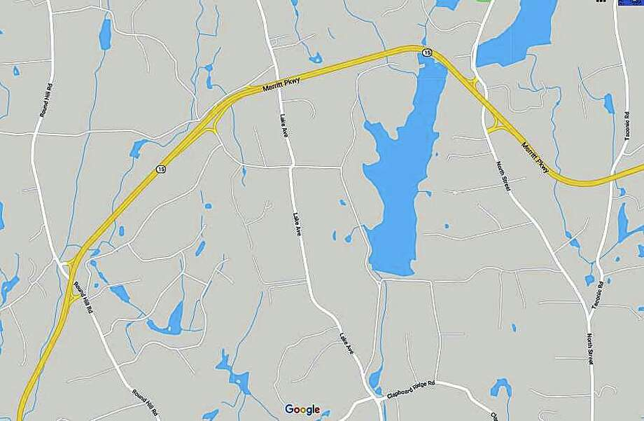A jack-knifed tractor tractor has closed the northbound Merritt Parkway in Greenwich on Friday morning on Jan. 31, 2020. The accident has closed the the northbound lanes between Exits 29 and 31. Photo: Google Maps