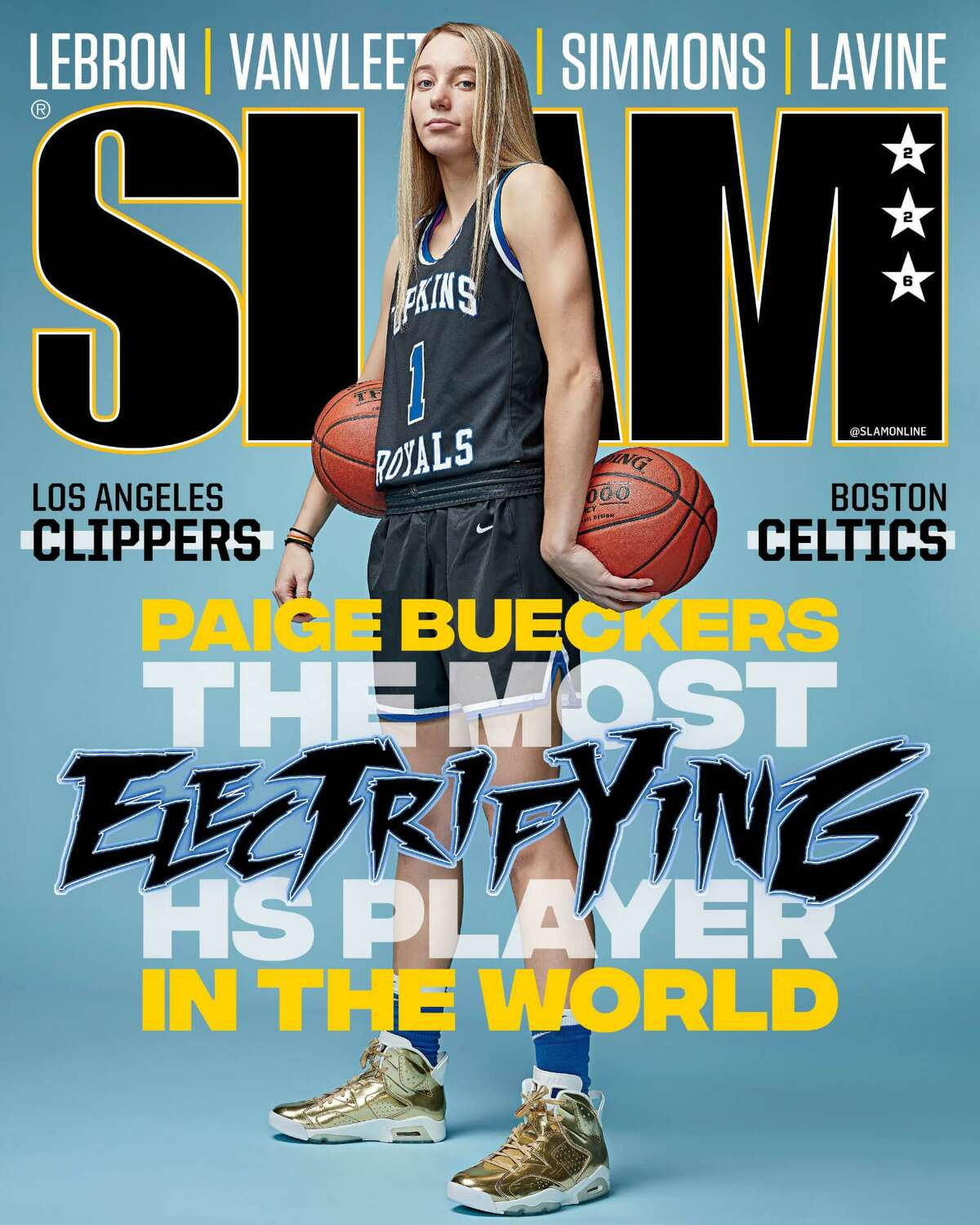 UConn recruit Paige Bueckers on the cover of Slam Magazine in January.