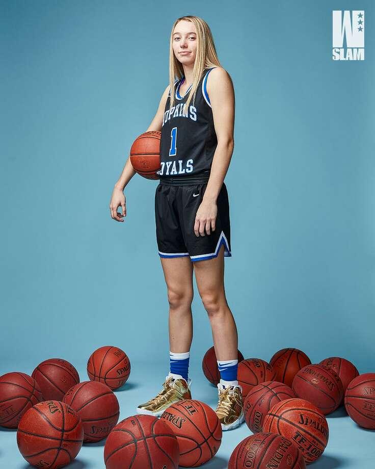 UConn recruit Paige Bueckers featured in SLAM Magazine. Photo: SLAM Magazine / Matthew Coughlinvia SLAM Magazine