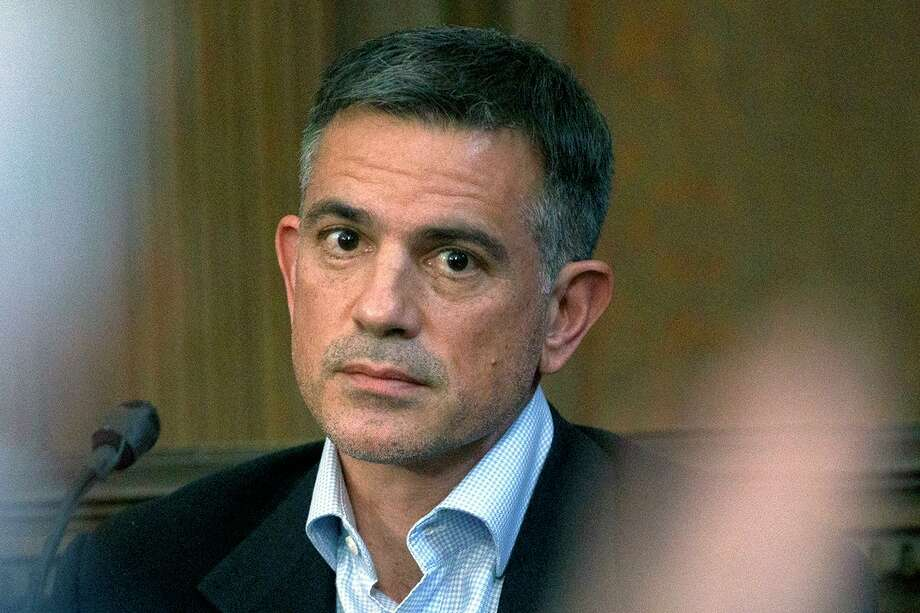 In this Dec. 4, 2019, file photo, Fotis Dulos, charged with murdering his estranged and missing wife, is questioned during testimony in a civil case at Hartford Superior Court in Hartford, Conn. Photo: Mark Mirko / Associated Press / ©2019 The Hartford Courant