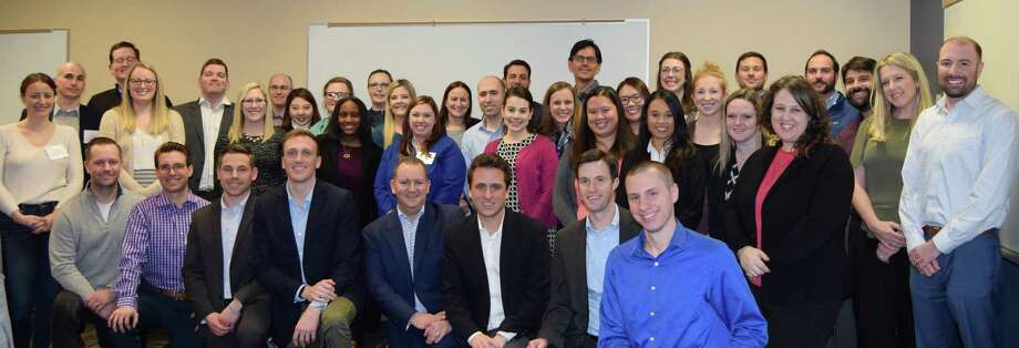 """The six-month Connecticut Professionals' Leadership Academy program brings together dozens of professionals """"to help develop and improve their professions, their professional association groups, their companies and their personal career growth,"""" according to a release. Photo: Contributed Photo"""
