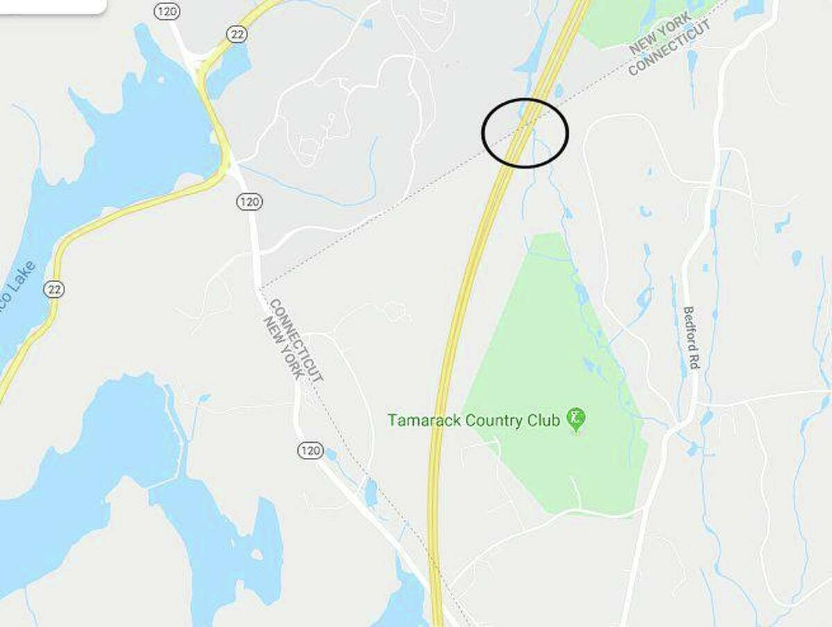 The proposed toll location on I-684 that would primarily affect New York Drivers.