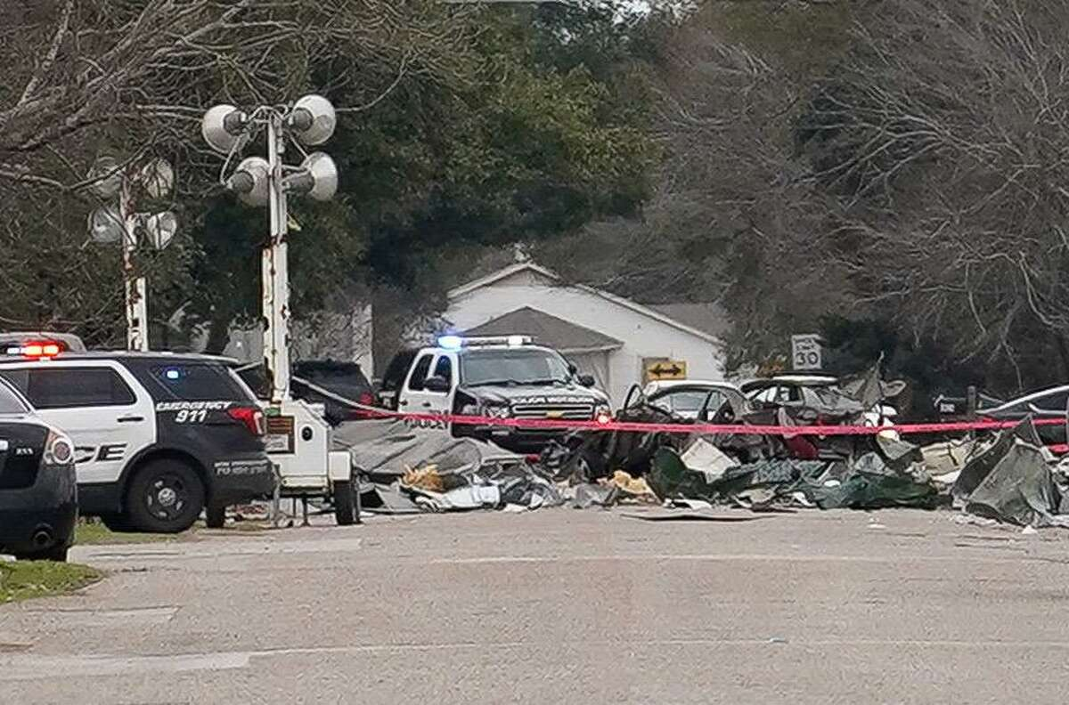 Debris is shown across Steffani Lane Saturday, January 25, 2020 in Houston adjacent to Watson Grinding and Manufacturing, 4525 Gessner Rd., the day after the explosion occurred.