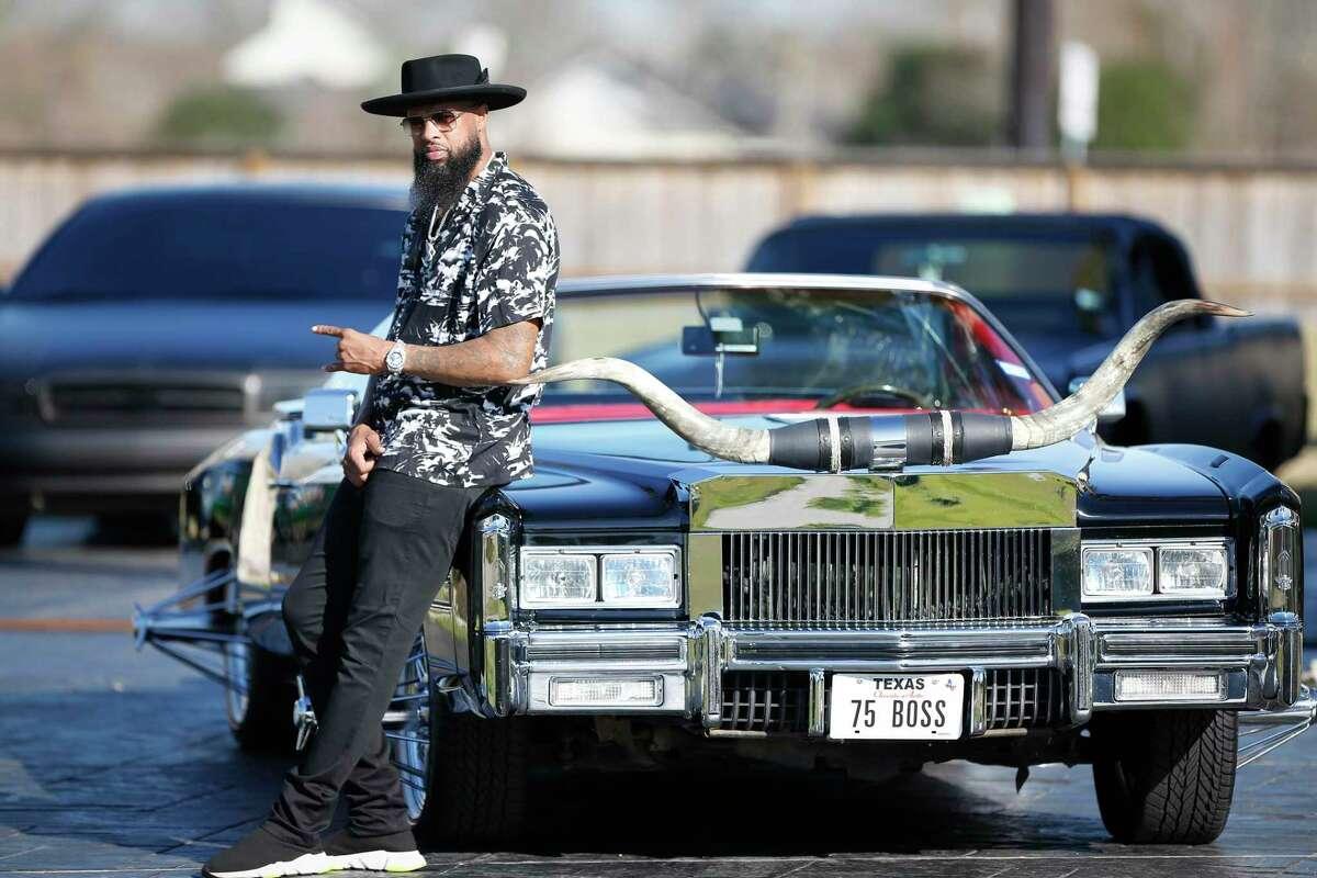 Rapper Slim Thug has a rare car collection like this 1975 Cadillac Eldorado Friday, Jan. 24, 2020, in Pearland.