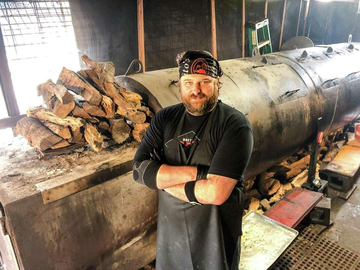 Owner-pitmaster Brett Jackson in Brett's BBQ Shop in Katy