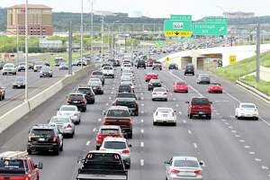 A view of traffic on Interstate 10 near Loop 1604 in 2016. The I-10 eastbound main lanes will be closed Saturday at the Boerne Stage Road intersection.