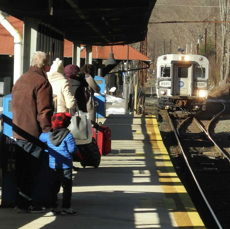 Branchville train station in Ridgefield is on the Danbury Branch line, which is among the operations that would benefit from the addition of new locomotives and cars under the proposed CT 2030 program. Photo: Macklin Reid / Hearst Connecticut Media