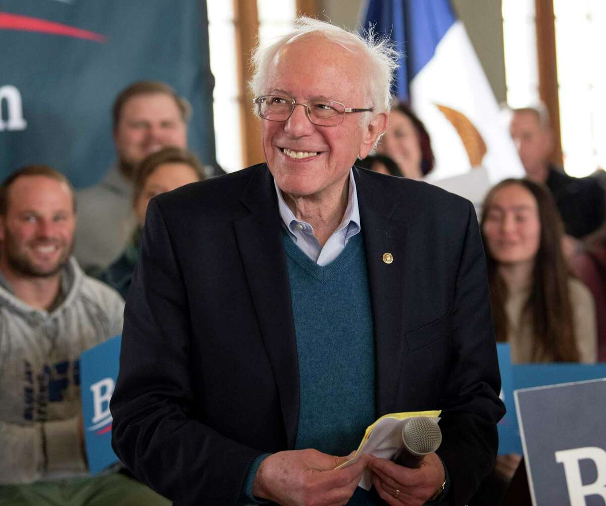 U.S. Senator and Democratic presidential candidate Bernie Sanders holds a townhall on January 26, 2020 in Perry, Iowa. (Brian Cahn/Zuma Press/TNS)