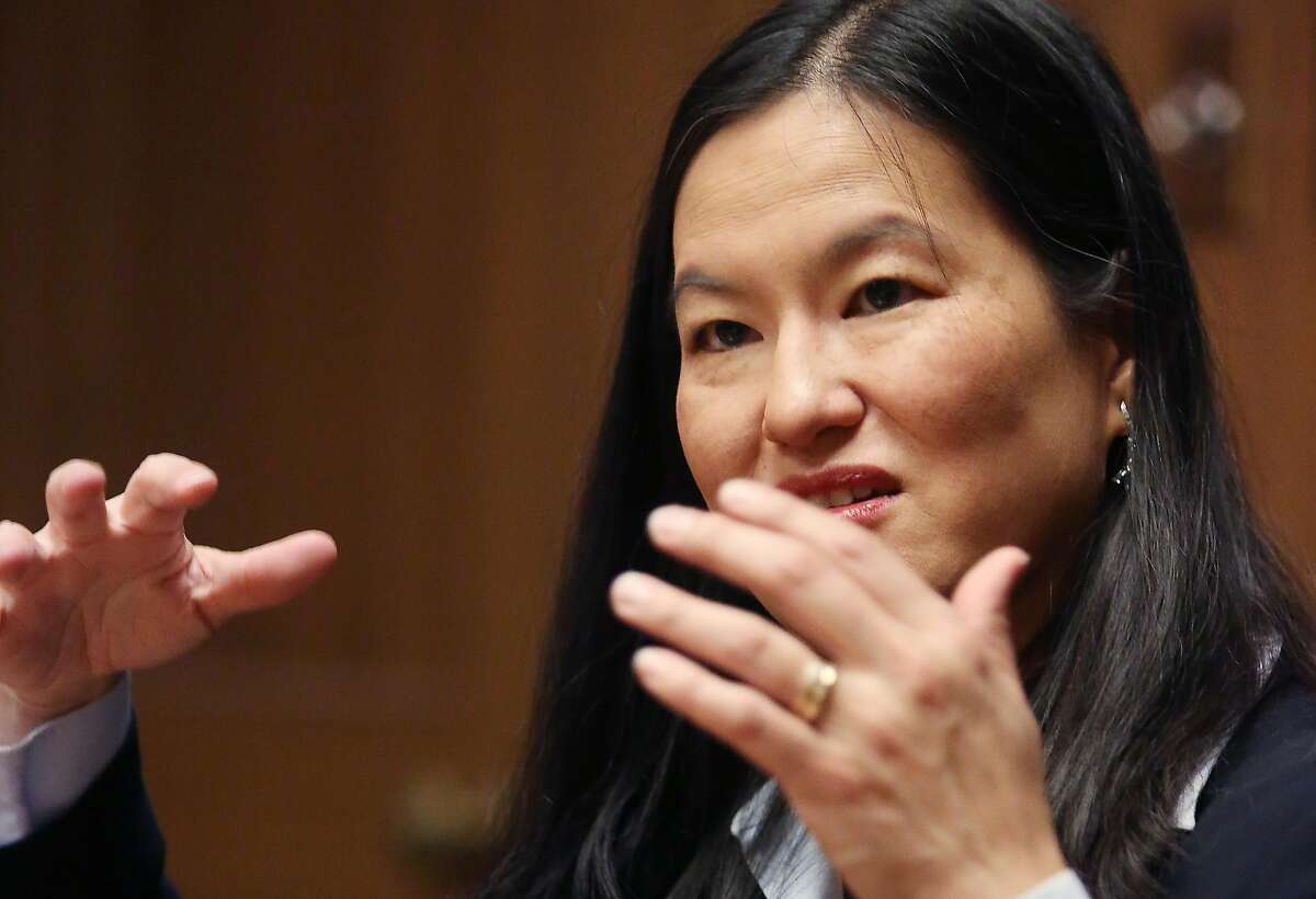 Dorothy Chou Proudfoot, who is running for San Francisco Superior Court Judge Seat 18, speaks to the Chronicle Editorial Board on Tuesday, January 14, 2020 in San Francisco, Calif.