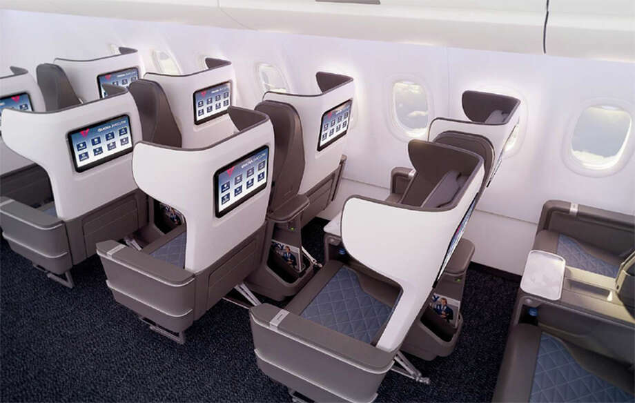 Delta unveiled a new first class seat for its Airbus A321neos. Photo: Delta