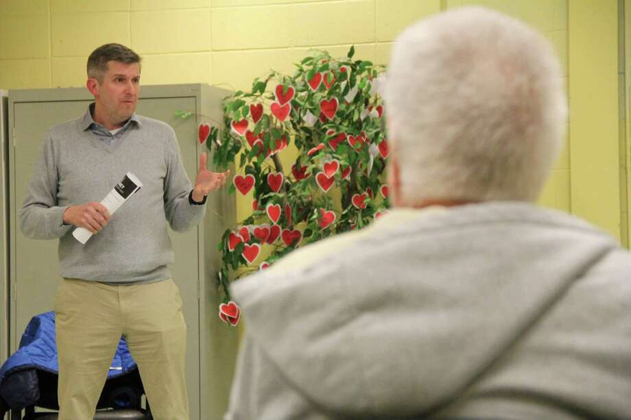 State Senator James Maroney (D-Milford) held a community conversation at the High Plains Community Center in Orange on Thursday, Jan. 30 to discuss his legislative priorities heading into the legislative session which begins on Wednesday, Feb. 5. Photo: Contributed Photo