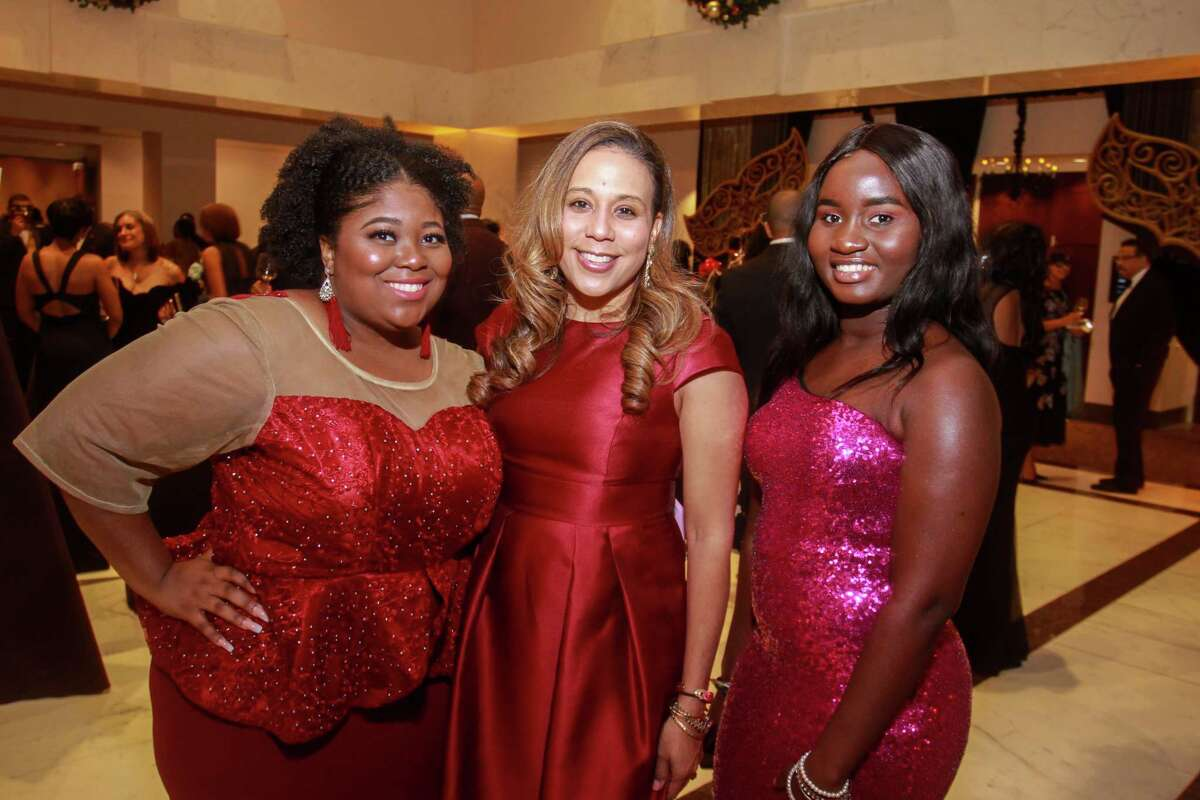 Sade Arnold, from left, Heidi Smith and Eniola Otukoya