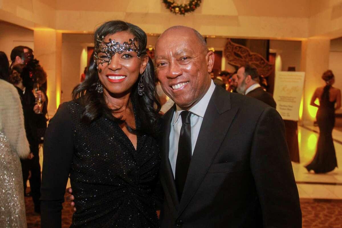 Dr. Kathy Flanagan and Mayor Sylvester Turner