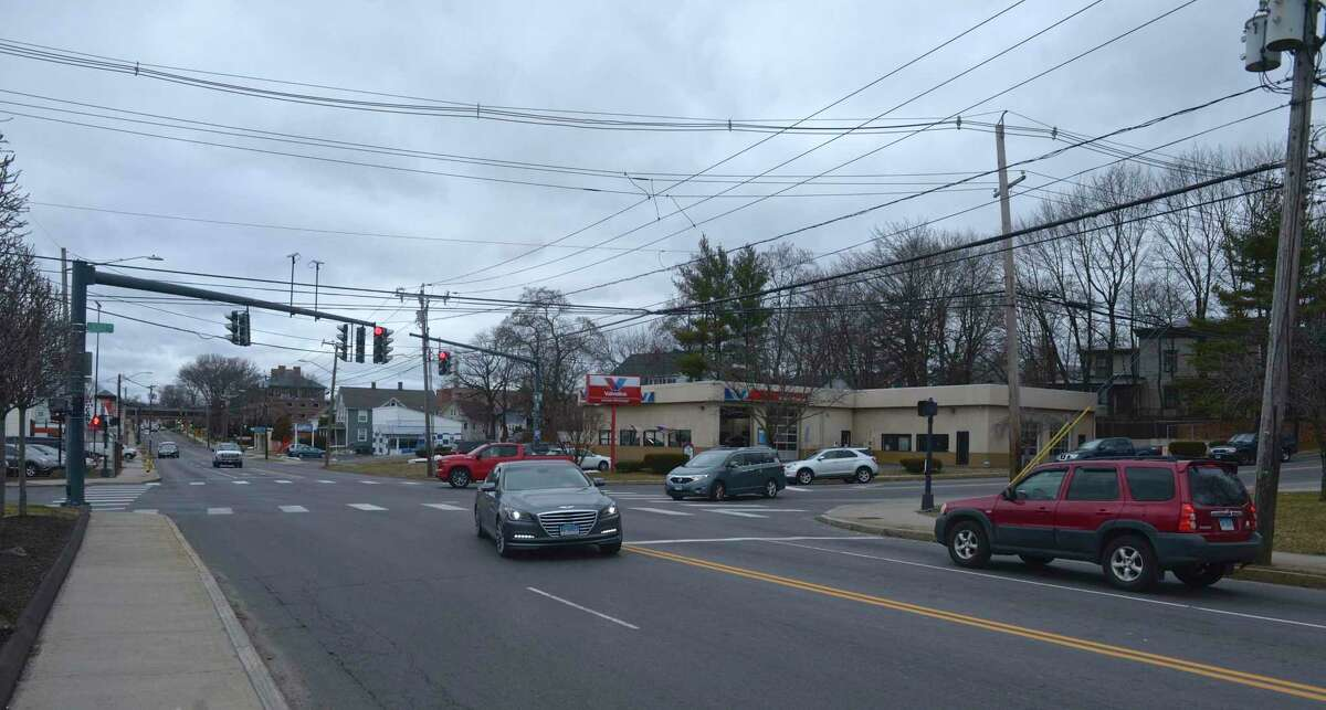 The intersection of White Street and Locust Ave and Wildman St in Danbury. The City of Danbury is planning improvements to a number of areas of White Street. Tuesday, January 28, 2020, in Danbury, Conn.