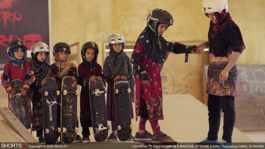 """""""Learning to Skateboard in a Warzone (if you're a girl)"""" is among the 15 Oscar Nominated Short Films begin screened at The Palace Danbury Feb. 1. Photo: The Palace Danbury / Contributed Photo"""