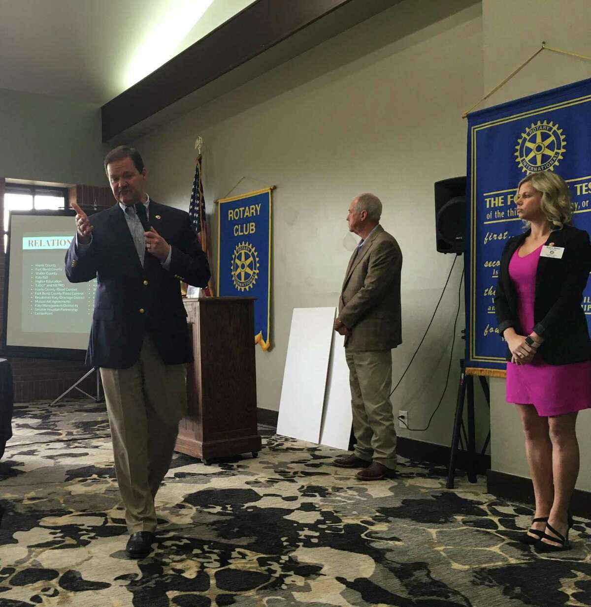 Byron Hebert, Katy city administrator, was one of three city officials who gave a State of the City address to the Rotary Club of Katy on Jan. 30. Also speaking were Katy Mayor Bill Hastings and  Director of Tourism Marketing and Public Kayce Reina.