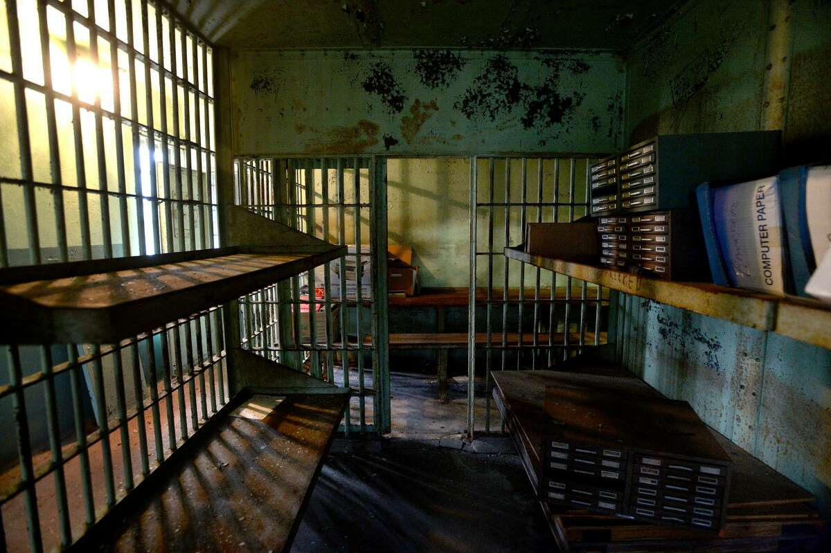 A holding cell is pictured at the old Orange City Jail, located in what was once the carriage house of the Brown family home on Green Avenue. The house was later the home of city hall. Photo taken Monday, Jan. 27, 2020 Kim Brent/The Enterprise