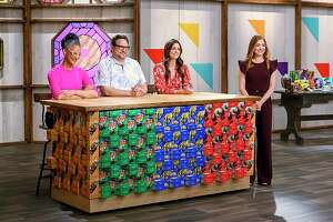 """The Food Network show """"Girl Scout Cookie Challenge"""" features judges Carla Hall, Nacho Aguirre of San Antonio, Katie Lee and host Alyson Hannigan. The show, where contestants use Girl Scout cookies to prepare dishes, premieres Monday."""