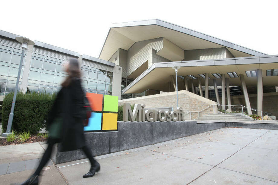 REDMOND ,U.S., Dec. 3, 2019 -- Photo taken on Nov. 14, 2019 shows the Microsoft headquarters in Redmond, the United States. The world will continue to see technological breakthroughs in artificial intelligence ,AI, and their potential application in healthcare and financial services will have a transformative impact on human life, Harry Shum has said. (Photo by Wang Ying/Xinhua via Getty) TO GO WITH Interview: AI breakthroughs potentially to reshape healthcare, finance: Microsoft AI chief (Xinhua/Qin Lang via Getty Images) Photo: Xinhua News Agency/Xinhua News Agency Via Getty Ima / Xinhua News Agency