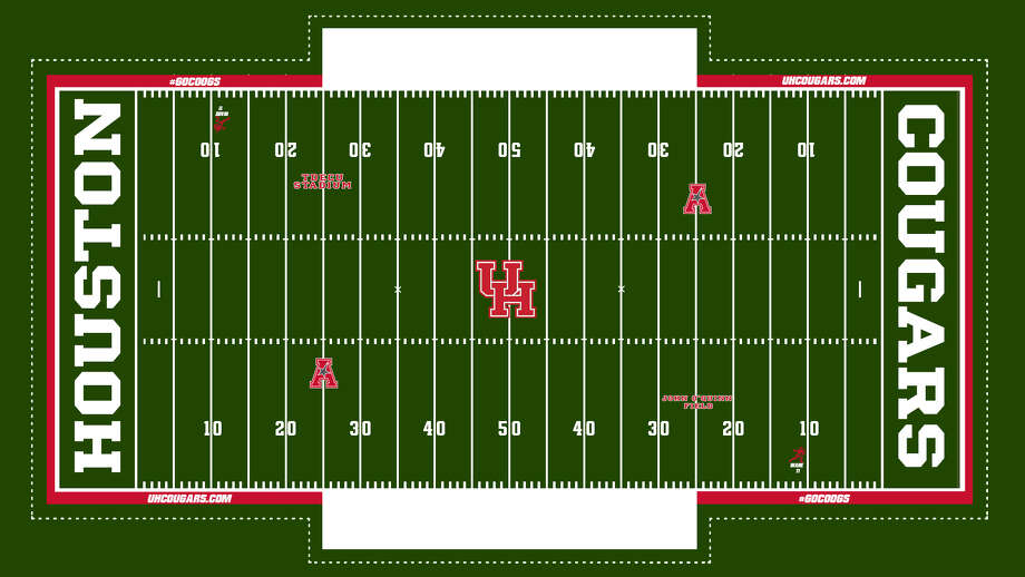 The University of Houston on Friday announced a customizable FieldTurf will be installed that will allow the school to create new field designs for each home football game beginning next season. Photo: UH Athletics