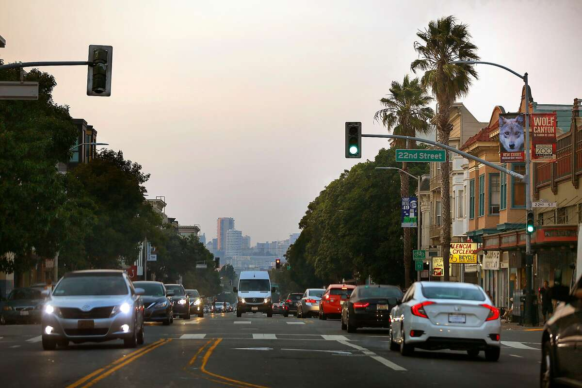 View of Valencia St. at 22nd Street on Friday, September 1, 2017, in San Francisco, Calif.